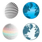 Abstract globe icons and symbols Stock Photo