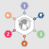 Abstract globe  info graphic Royalty Free Stock Images