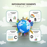 Abstract globe infographics Stock Images