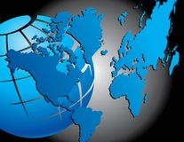 Abstract globe and map. Royalty Free Stock Photos