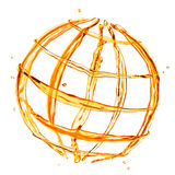 Abstract globe from orange water Royalty Free Stock Image