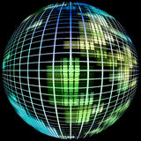 Abstract globe silhouette.Digitally generated image. Stock Images