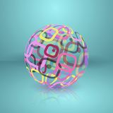 Abstract globe sphere. Stock Images