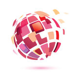 Abstract globe symbol. Icon, business concept Royalty Free Stock Images