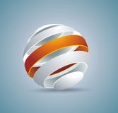 Abstract globe symbol internet and social network concept. Isola Royalty Free Stock Image