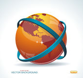 Abstract globe symbol internet and social network concept. Isola Stock Photo