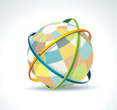 Abstract globe symbol internet and social network concept. Isolated icon Royalty Free Illustration