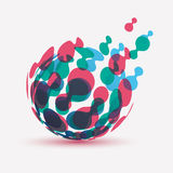 Abstract globe symbol royalty free illustration