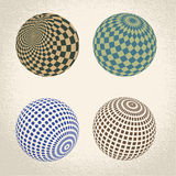 Abstract globe symbol,  round icon Royalty Free Stock Photography