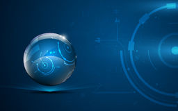 Abstract globe tech design communication innovation concept background Stock Images