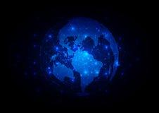 Abstract globe technology background. illustration desig. N Royalty Free Illustration