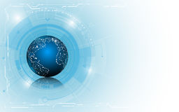 Abstract globe technology innovation concept  background design Royalty Free Stock Photography