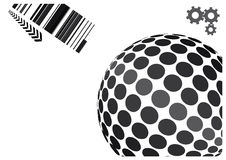 Abstract globe vector design. With technical elements Royalty Free Stock Image