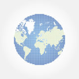 Abstract globe world map in a round dots. Flat  illustration EPS 10.  Stock Photography