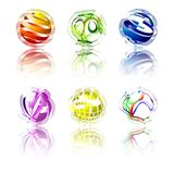 Abstract Globes Stock Photo
