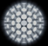 Abstract Globular Nanocrystals. Illustration Suitable for Scientific Context Stock Images