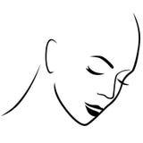 Abstract gloomy female hairless head Royalty Free Stock Photos