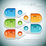 Abstract Gloss Shape Infographic Royalty Free Stock Photos