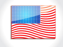 Abstract glossy american flag Stock Photos