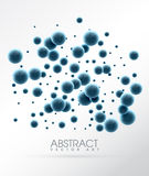 Abstract glossy balls. Futuristic background with bubbles vector illustration