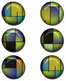 Abstract Glossy Button Set Stock Photo