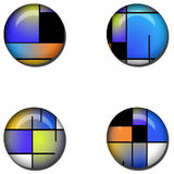 Abstract Glossy Button Set Stock Image