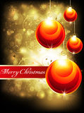 Abstract glossy christmas background Stock Images