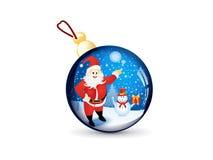 Abstract glossy christmas ball Royalty Free Stock Photos