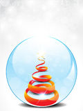 Abstract glossy christmas glass Royalty Free Stock Image