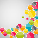 Abstract Glossy Circle Background Vector Illustration Stock Photos