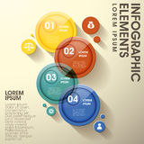 Abstract glossy circle label infographic elements Stock Image