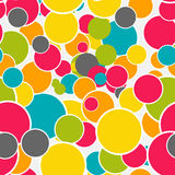 Abstract Glossy Circle Seamless Pattern Background Vector Illust Stock Photos
