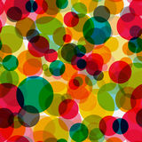 Abstract Glossy Circle Seamless Pattern Background Vector Illust stock illustration