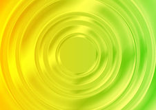 Abstract glossy circles with green yellow gradient Stock Images