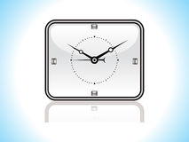 Abstract glossy clock icon Stock Images