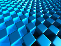 Abstract Glossy Cubes Design Background. 3d Render Illustration Royalty Free Stock Images