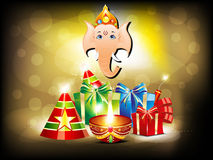 Abstract glossy diwali background with gifts Stock Images