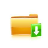 Abstract glossy download icon vector illustration Royalty Free Stock Photography
