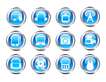 Abstract glossy electronic icon Stock Images