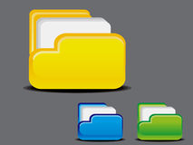 Abstract glossy folder icon Royalty Free Stock Images