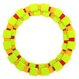 Abstract glossy frame made of smooth blocks Stock Photo