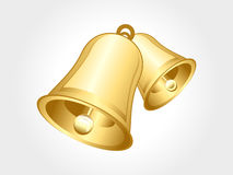 Abstract glossy golden bell stock illustration