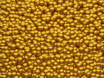 Abstract glossy golden bubbles. Background Stock Illustration