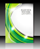 Abstract glossy green falyer Royalty Free Stock Images
