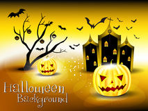 Abstract glossy halloween background Stock Image