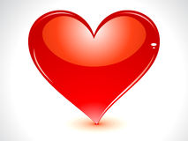 Abstract glossy heart Stock Images