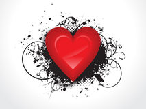 Abstract glossy heart with grunge. Vector illustration Stock Photography