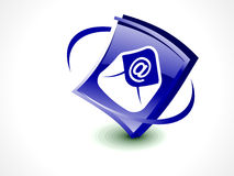 Abstract glossy mail icon button Stock Photo