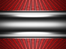 Abstract Glossy Metallic Hi-Tech Background with Hexagon Pattern. 3d Render Illustration Royalty Free Stock Photography
