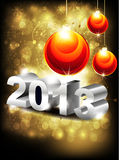 Abstract glossy new year background Royalty Free Stock Photo